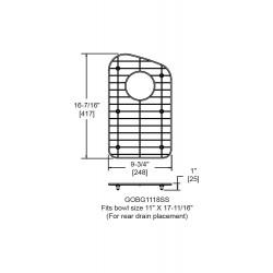Elkay GOBG1118SS Bottom Grid