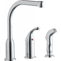 Elkay LK3001CR Everyday Kitchen Faucet with Remote Handle and Side Spray