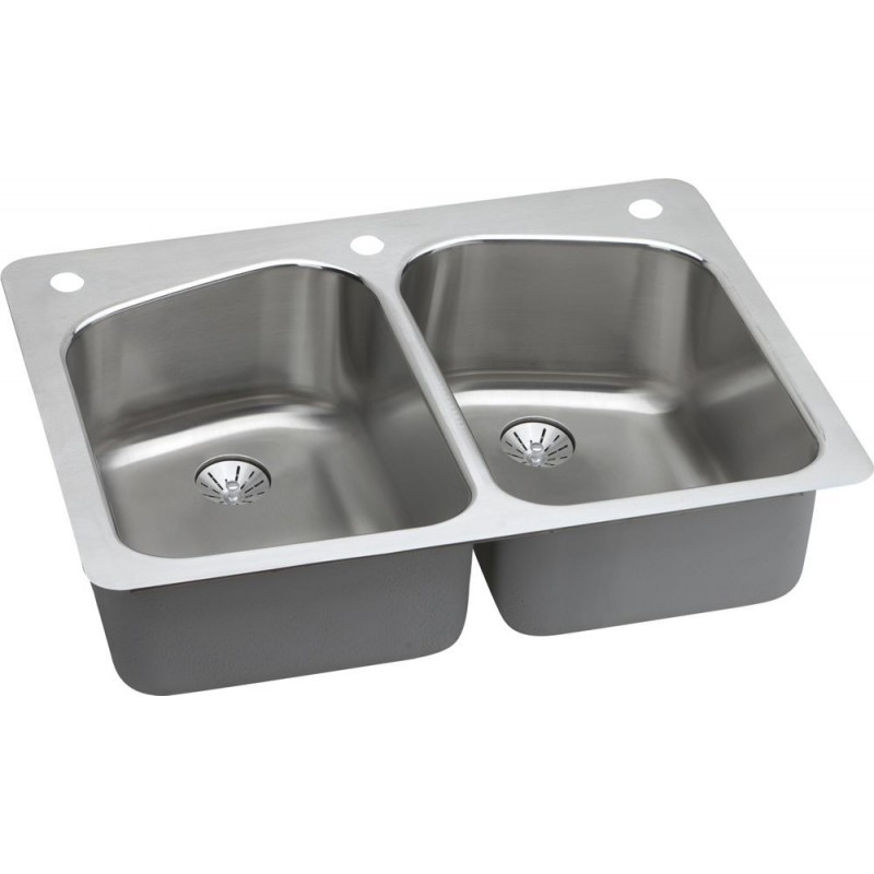 Elkay Lkhsr33229pd Harmony Stainless Steel Double Bowl