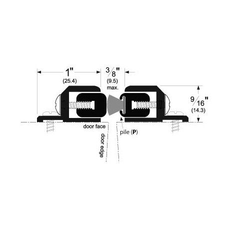 Pemko 351 Adjustable Astragal