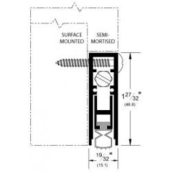 Pemko 4131 Surface & Semi-Mortise Automatic Door Bottom