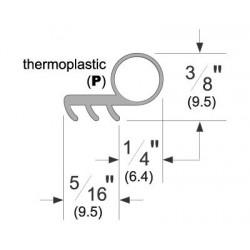 Pemko P50 Thermoplastic Kerf-In Weatherstrip