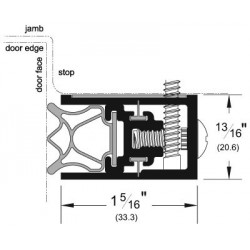 Pemko 350 Adjustable Jamb Weatherstrip