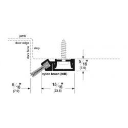 Pemko 29344 Snap Cover Perimeter Gasketing with Concealed Fasteners