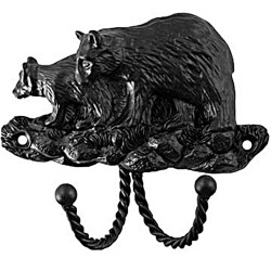 Sierra 6814 Decorative Hook - Black Bear