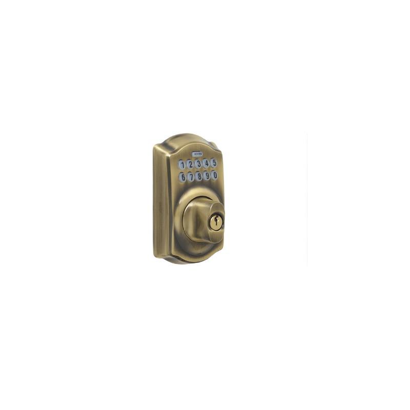 schlage be365 camelot electronic keypad deadbolt. Black Bedroom Furniture Sets. Home Design Ideas