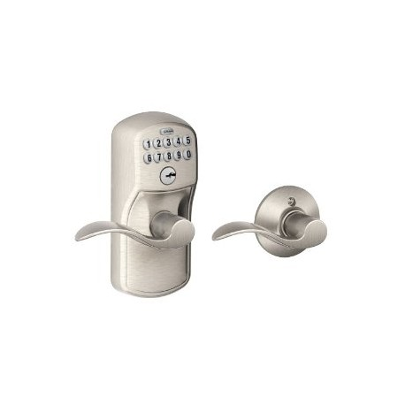 Schlage FE575 Plymouth Keypad Entry Auto-Lock with Accent Lever