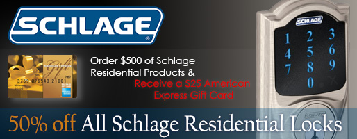 50% Off Schlage Residential Products
