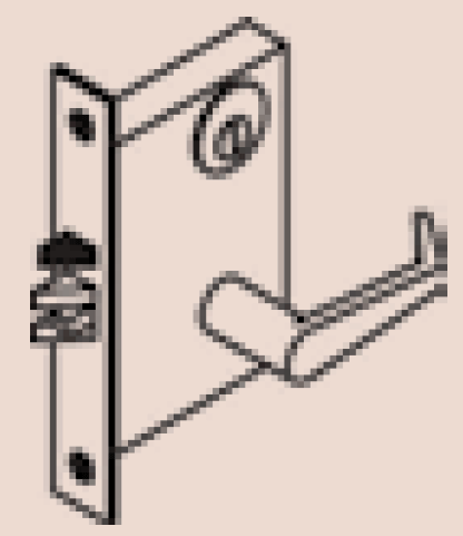 Mortise Lockset without a Deadbolt
