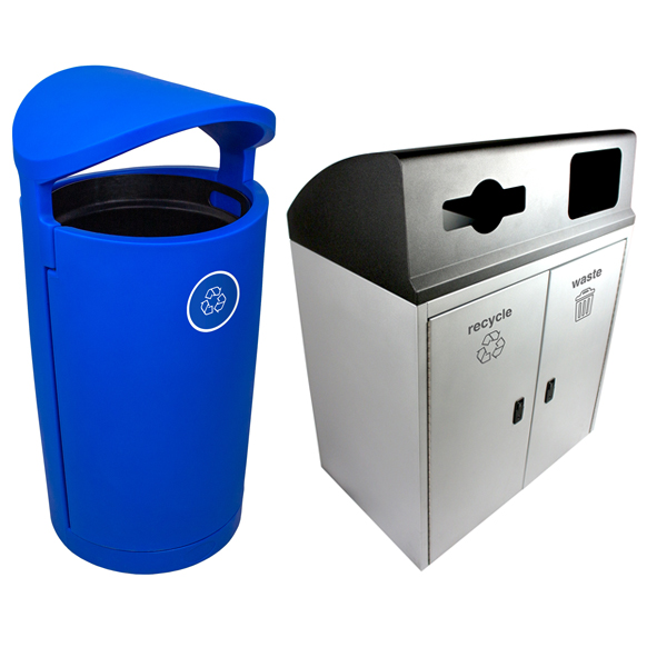 Outdoor Recycling & Waste Bins