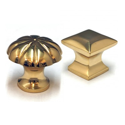 Cabinet, Wardrobe & Drawer Brass Knobs